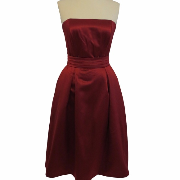 After Six Dresses & Skirts - After Six Strapless Matte Satin Dress, Size: 8
